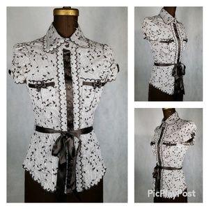 Bebe button down blouse size xs